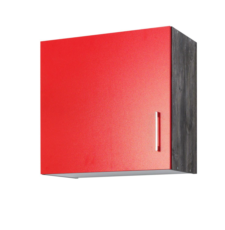 k chen h ngeschrank sevilla 1 t rig 60 cm breit rot samtmatt eiche vintage k che k chen. Black Bedroom Furniture Sets. Home Design Ideas