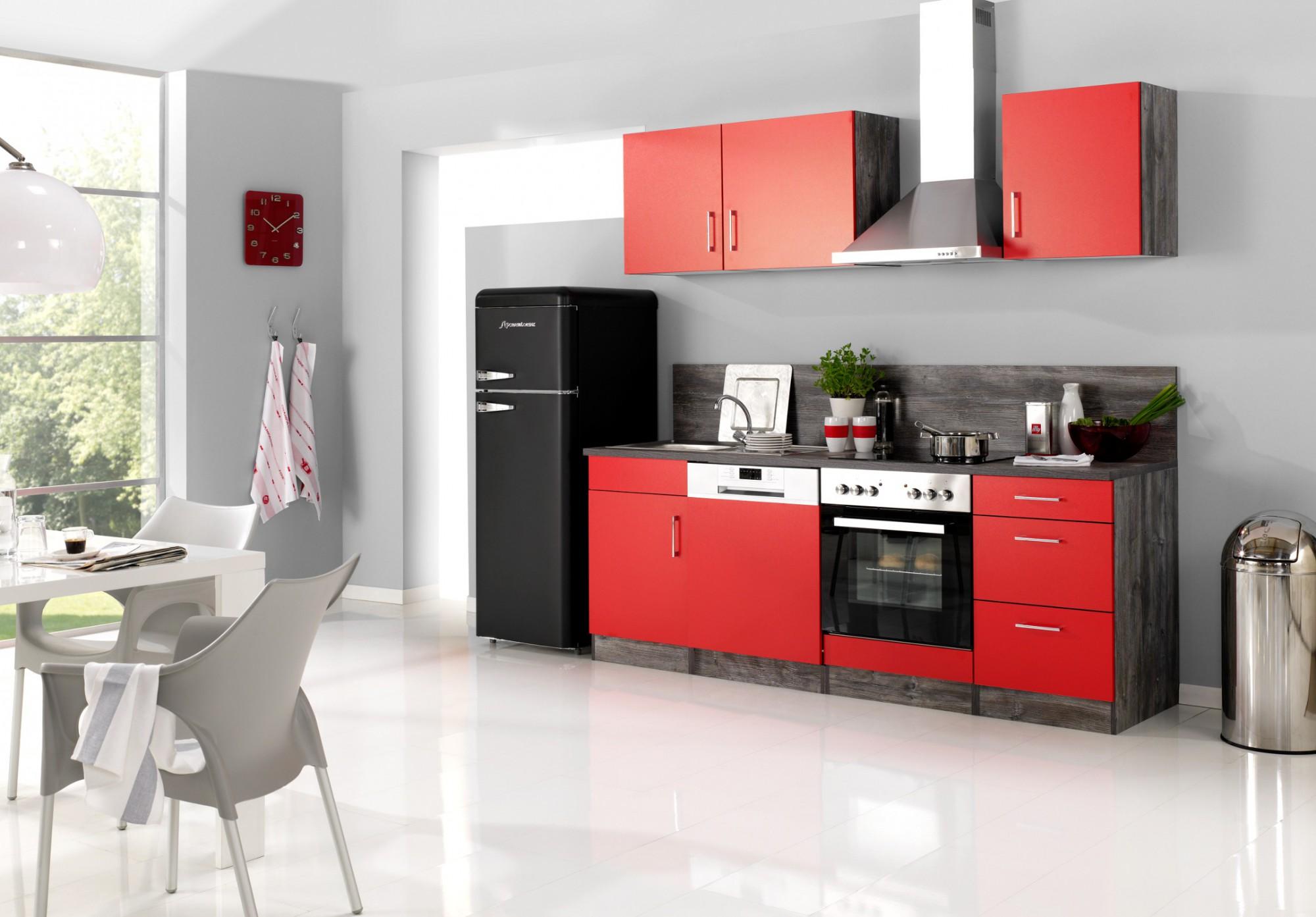 Kuchen hangeschrank sevilla 1 turig 50 cm breit rot for Suche gebrauchte küche