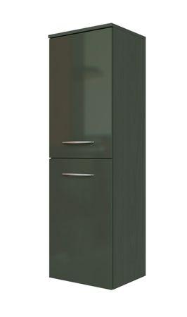Bad-Midischrank FLORIDA - 2-türig - 40 cm breit - Hochglanz Grau / Graphitgrau