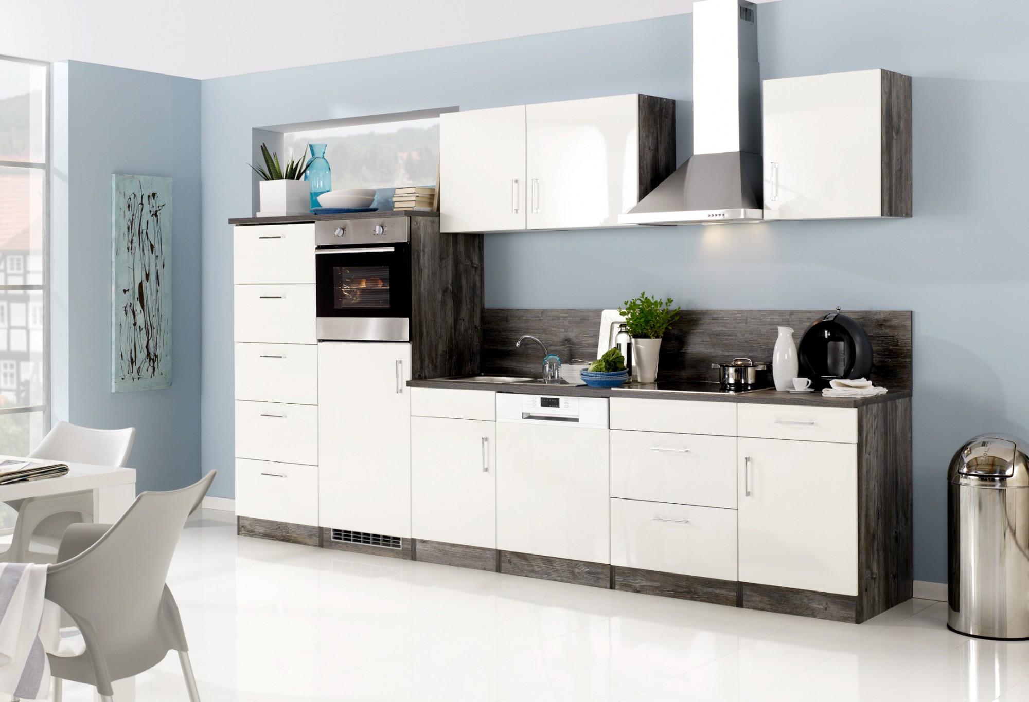 Küchen-Unterschrank LISSABON - 1-türig - 50 cm breit - Hochglanz ...
