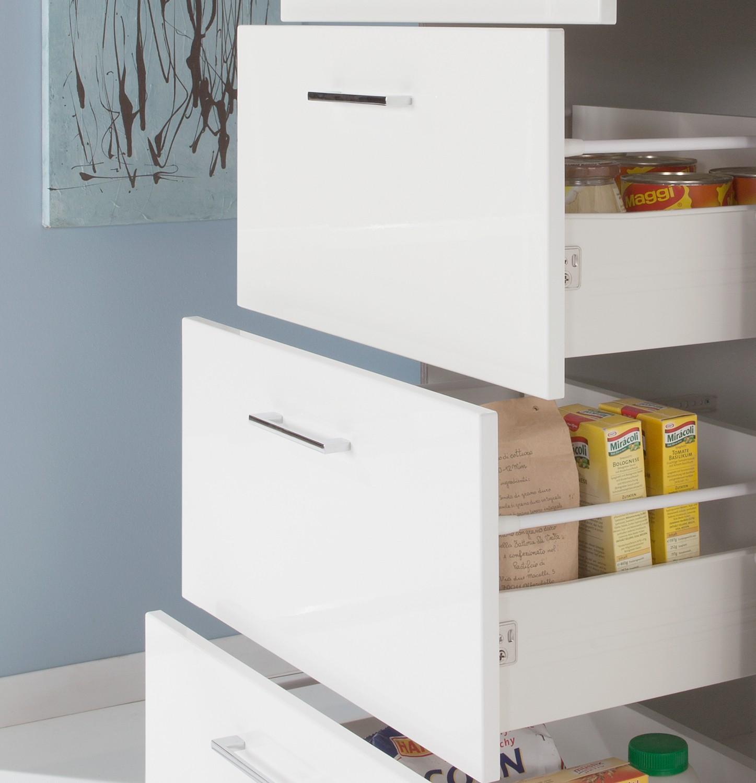 Küchen-Auszugschrank LISSABON Hochschrank Midischrank Küchenmöbel 60 ...