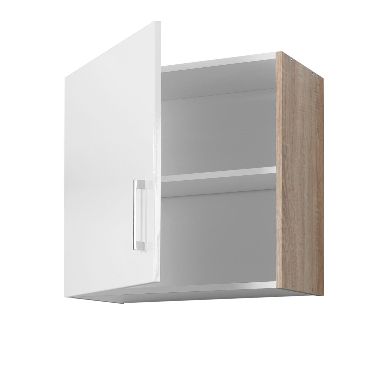 k chen h ngeschrank lissabon 1 t rig 60 cm breit hochglanz wei eiche sonoma k che. Black Bedroom Furniture Sets. Home Design Ideas