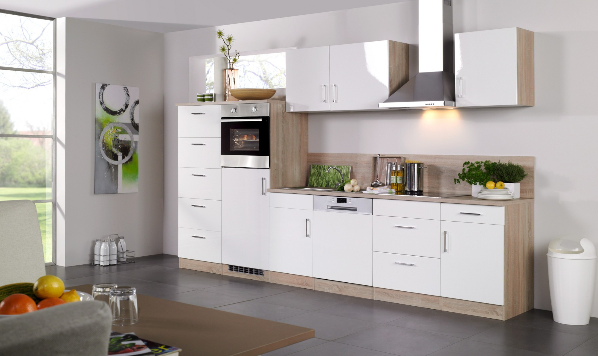 Küchen-Hängeschrank LISSABON - 1-türig - 50 cm breit - Hochglanz ...
