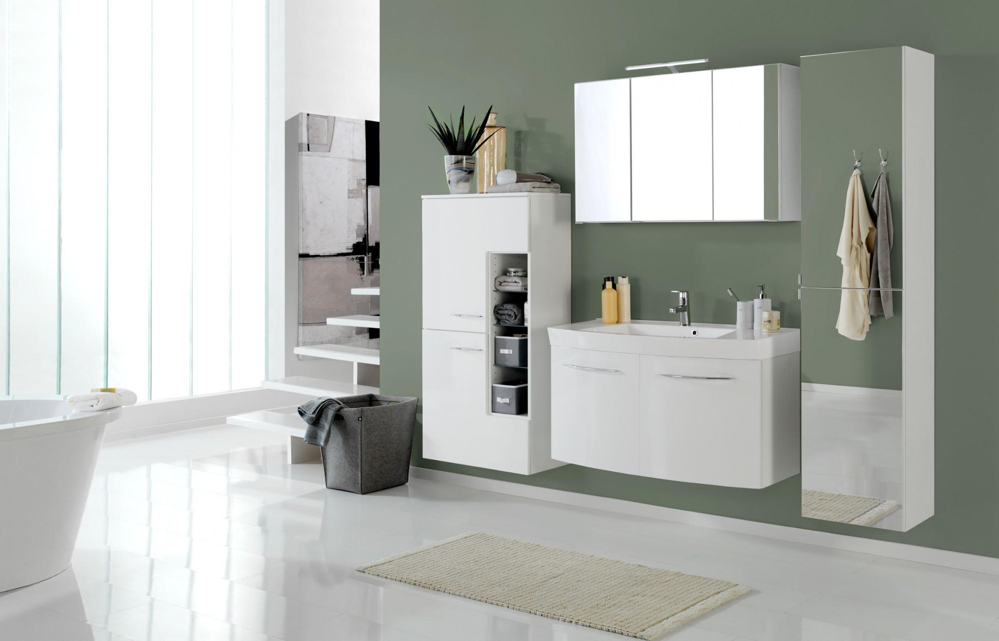 bad hochschrank florida 2 t rig mit spiegel 40 cm breit spiegel wei bad bad hochschr nke. Black Bedroom Furniture Sets. Home Design Ideas
