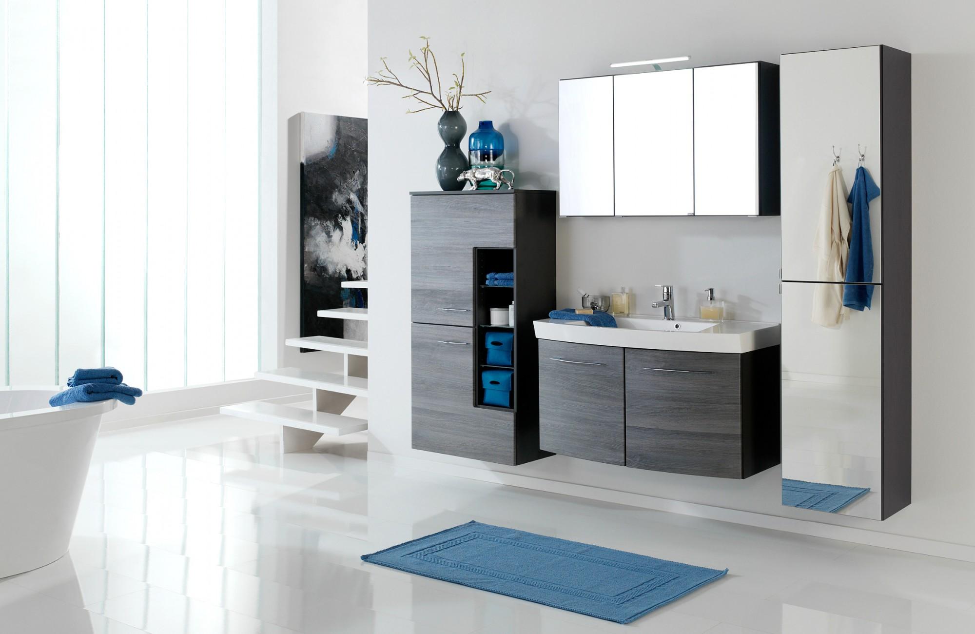 bad-hochschrank florida - 2-türig, mit spiegel - 40 cm breit, Badezimmer ideen
