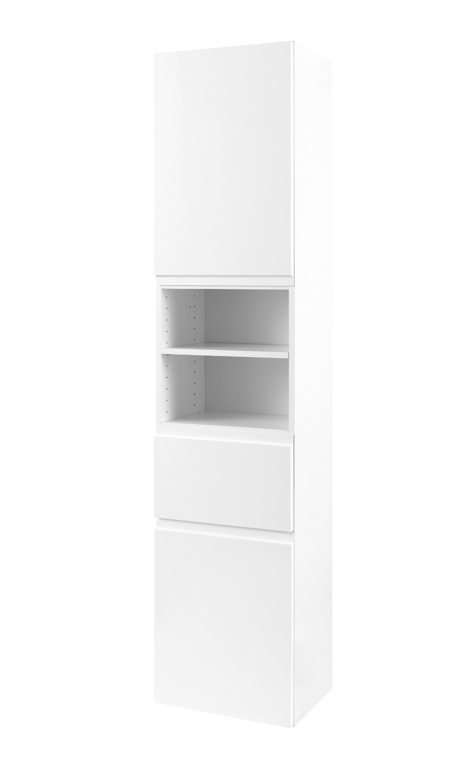 badezimmer hochschrank cardiff seitenschrank 40 cm weiss. Black Bedroom Furniture Sets. Home Design Ideas