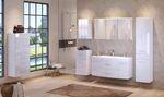 Bad-Waschtisch FLORIDA - 2 Auszüge - 120 cm breit - Hochganz Weiß / Weiß