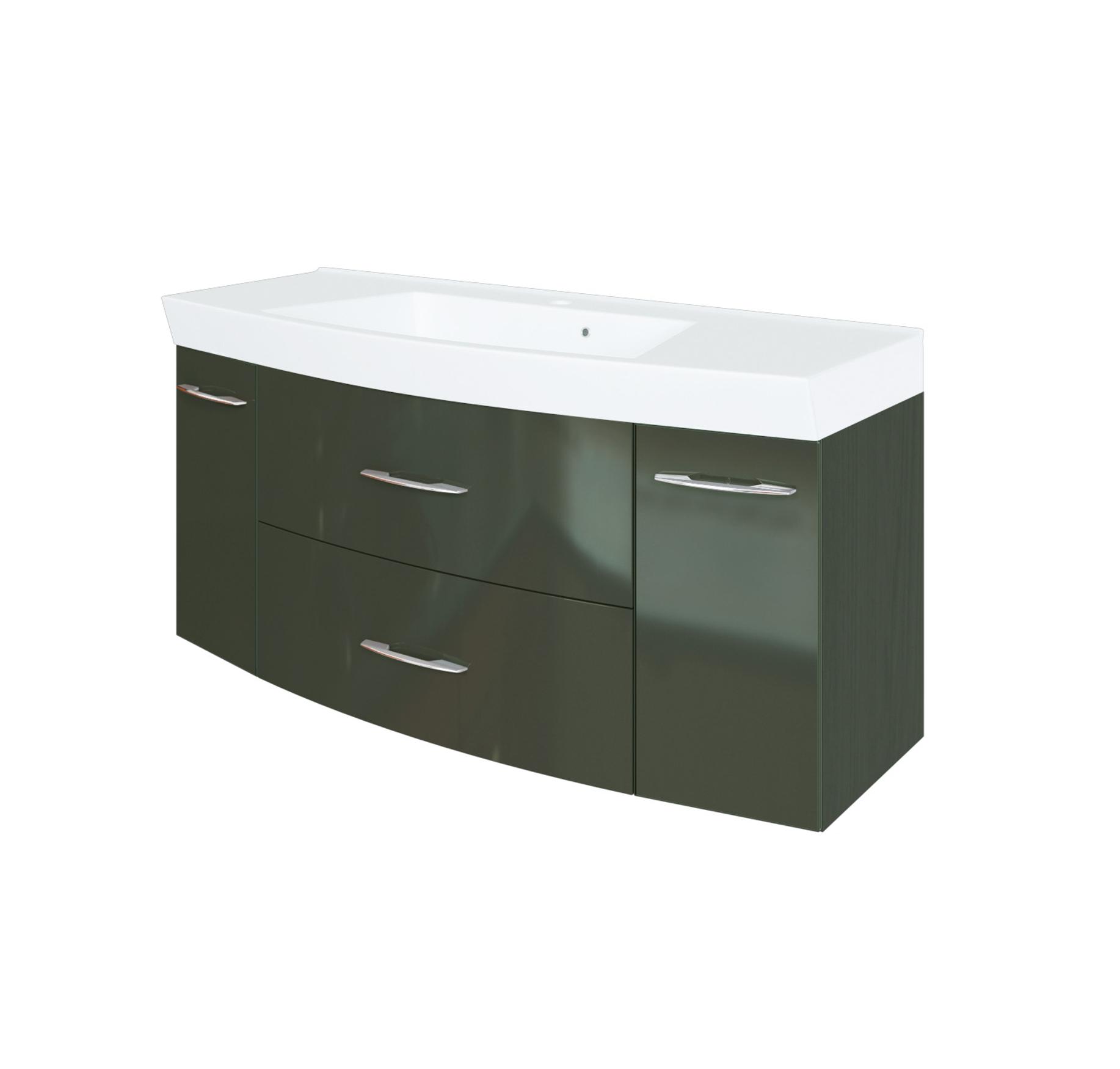 bad waschtisch florida 2 ausz ge 120 cm breit hochglanz grau graphitgrau bad waschtische. Black Bedroom Furniture Sets. Home Design Ideas
