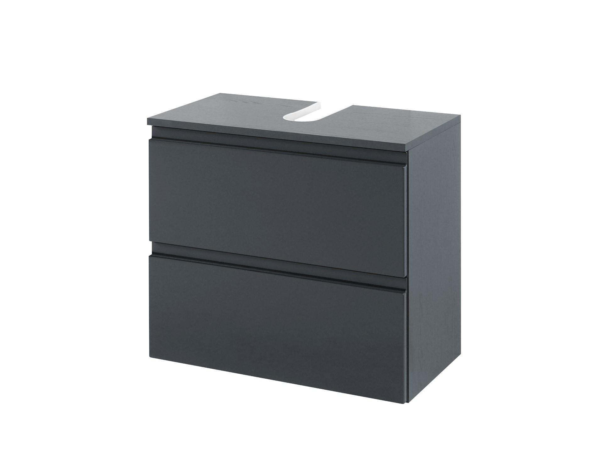 bad waschbeckenunterschrank cardiff 1 auszug 1 klappe 60 cm breit hochglanz grau bad. Black Bedroom Furniture Sets. Home Design Ideas