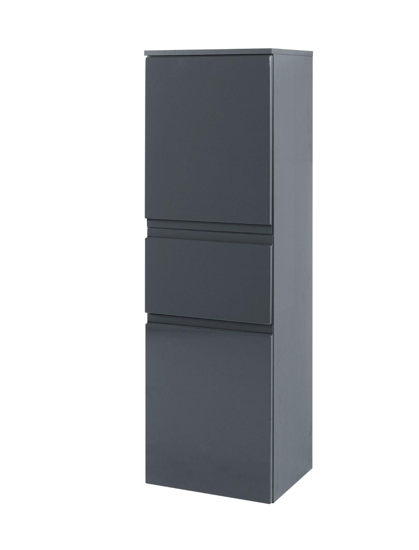 Badezimmer midischrank cardiff midi highboard badezimmerschrank 40 cm grau ebay - Badezimmerschrank grau ...