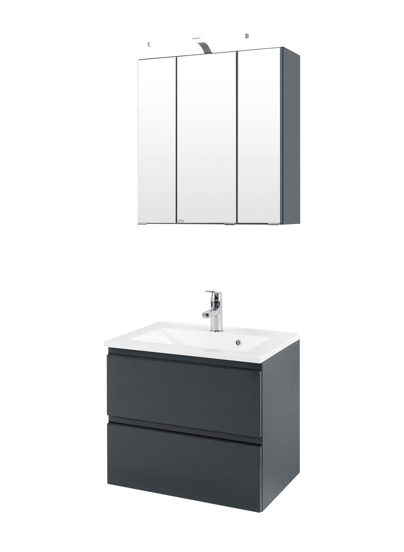 Badmöbel-Set CARDIFF - mit Waschtisch - 4-teilig - 60 cm breit ...
