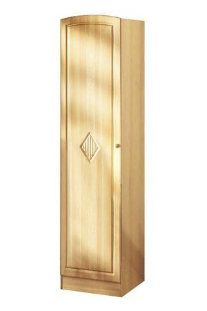 Küchen-Hochschrank RAUTE - 1-türig - 50 cm breit - Buche