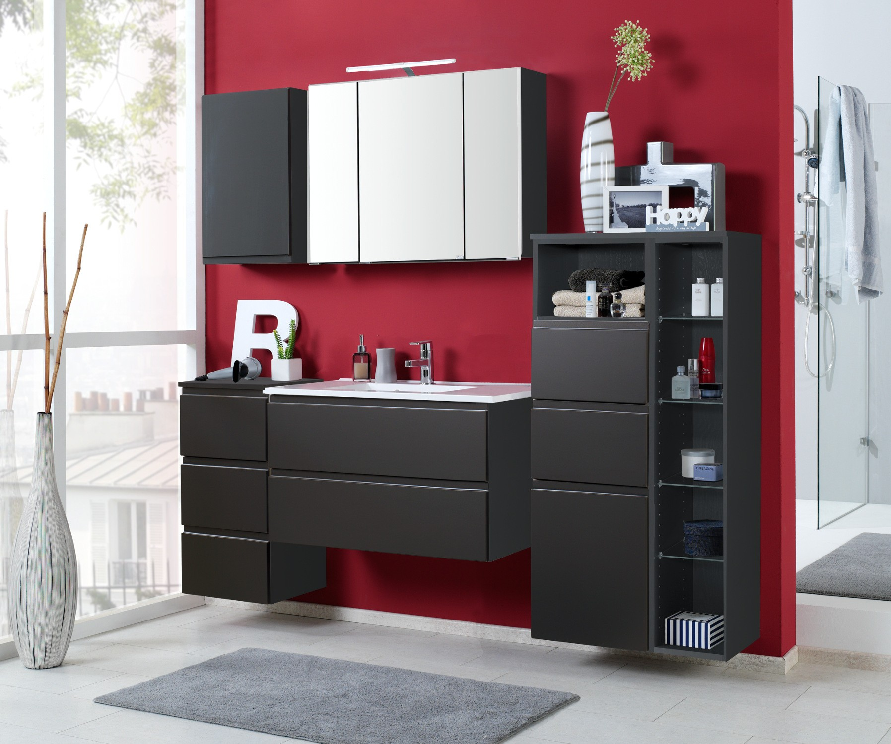 badm bel set cardiff mit waschtisch 7 teilig 185 cm. Black Bedroom Furniture Sets. Home Design Ideas