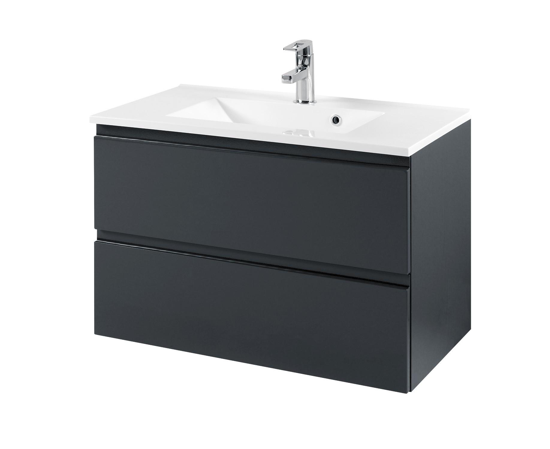 badm bel set cardiff mit waschtisch 7 teilig 160 cm breit hochglanz grau bad badm belsets. Black Bedroom Furniture Sets. Home Design Ideas