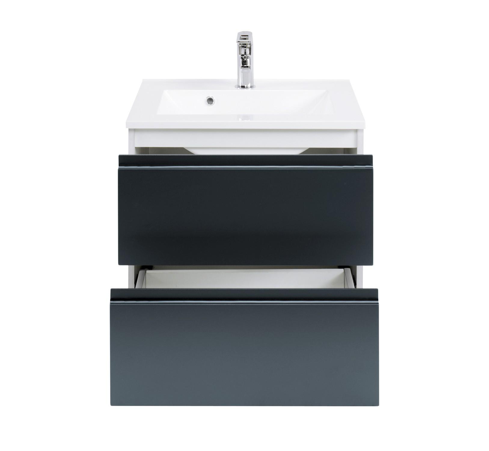 badm bel set cardiff mit waschtisch 7 teilig 140 cm breit stahlgrau metallic bad. Black Bedroom Furniture Sets. Home Design Ideas