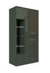 Bad-Midischrank FLORIDA - 2-türig - 65 cm breit - Hochglanz Grau / Graphitgrau