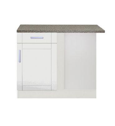 Küchenzeile VAREL - Küche mit E-Geräten - Breite 280 cm - Hochglanz ...