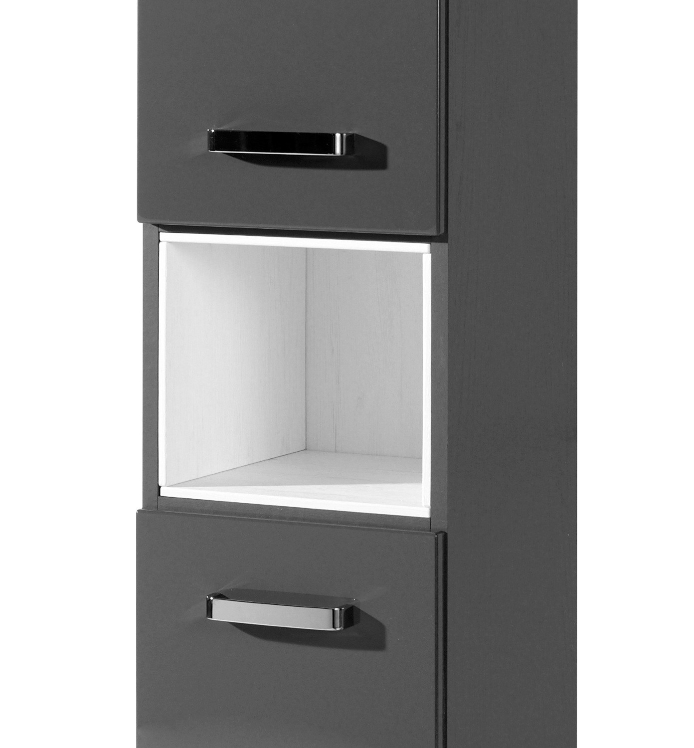 bad hochschrank ancona 2 t rig 1 regalfach 30 cm breit hochglanz grau bad bad hochschr nke. Black Bedroom Furniture Sets. Home Design Ideas