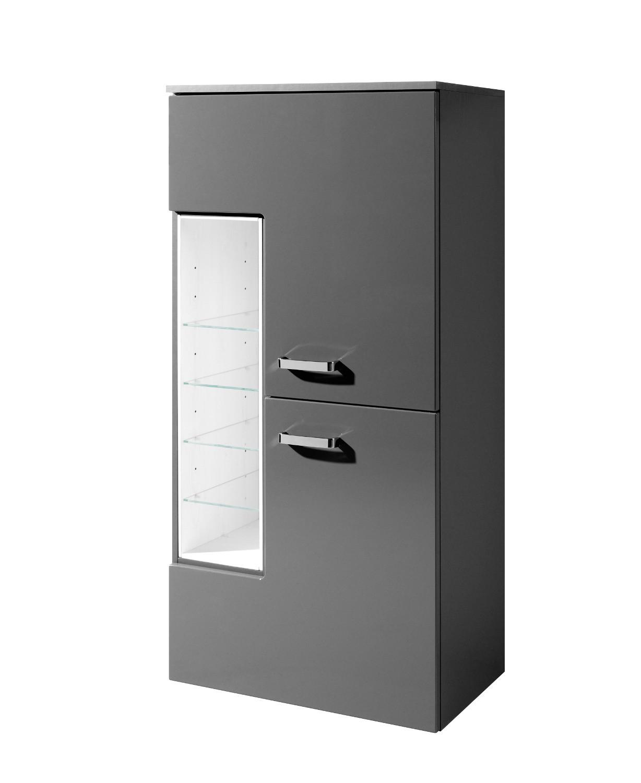 bad midischrank ancona 2 t rig 4 regalf cher 65 cm breit hochglanz grau bad bad midischr nke. Black Bedroom Furniture Sets. Home Design Ideas