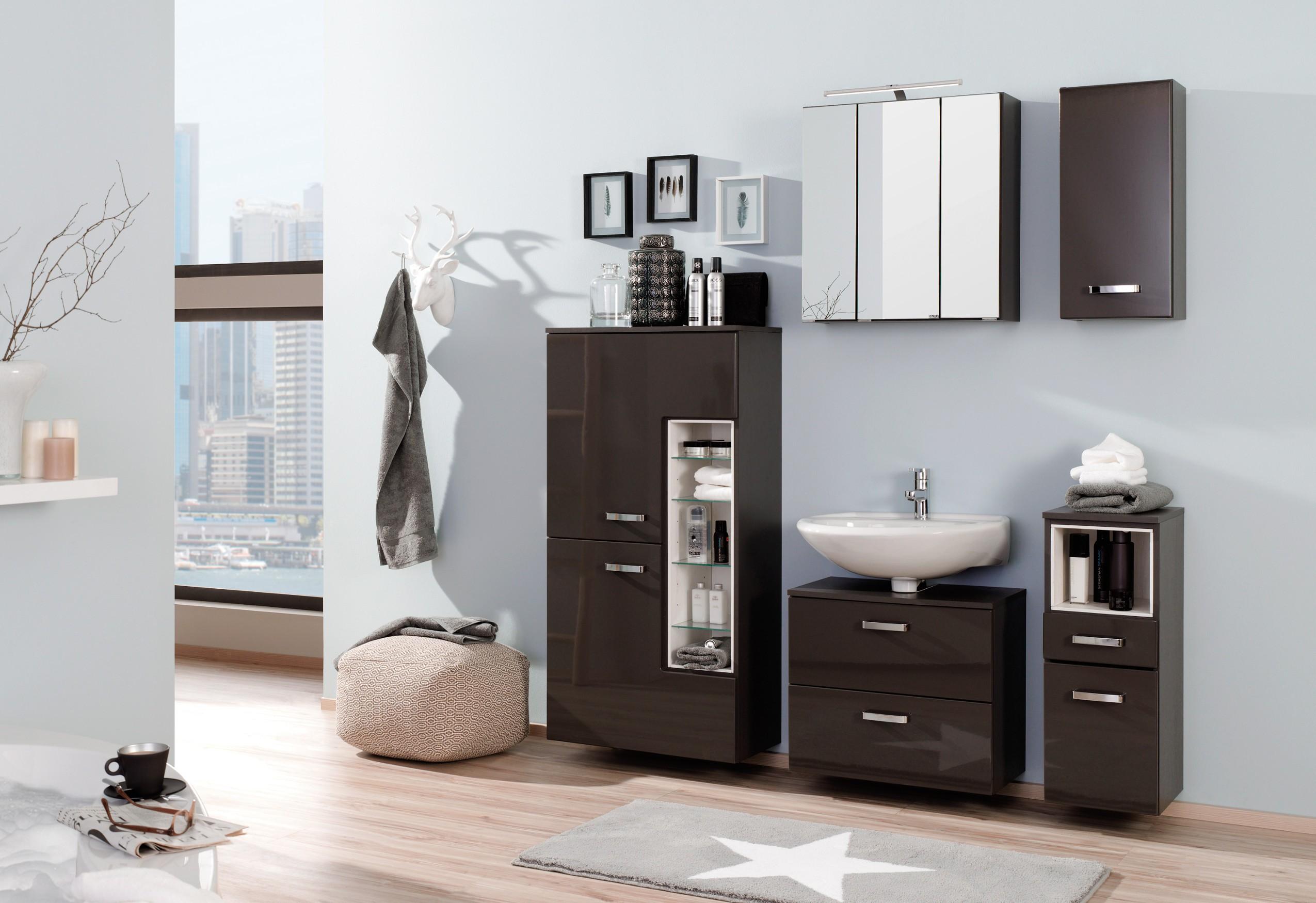 badm bel set ancona 6 teilig 155 cm breit hochglanz grau bad badm belsets. Black Bedroom Furniture Sets. Home Design Ideas