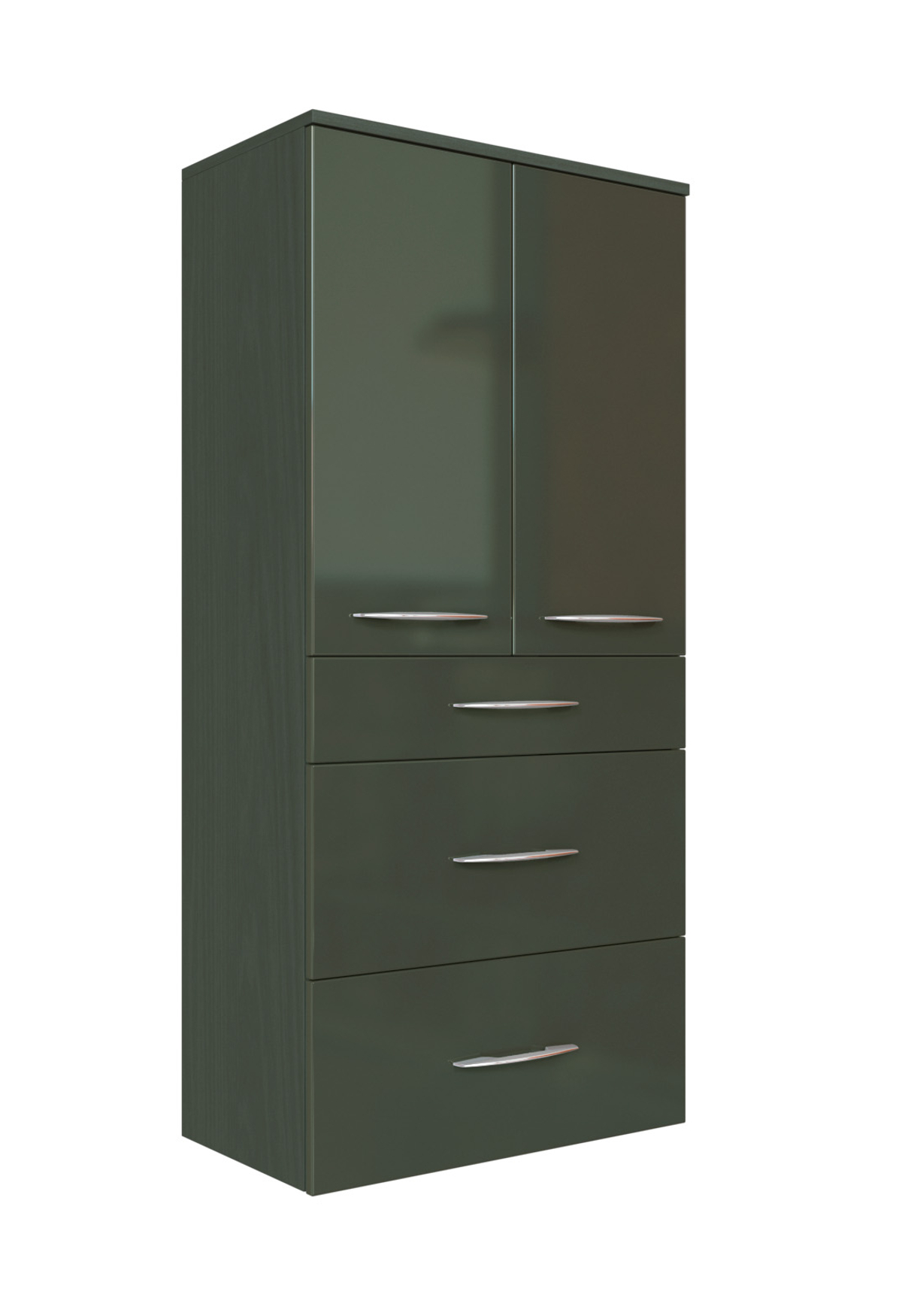 bad midischrank florida 2 t rig 60 cm breit hochglanz grau graphitgrau bad bad midischr nke. Black Bedroom Furniture Sets. Home Design Ideas