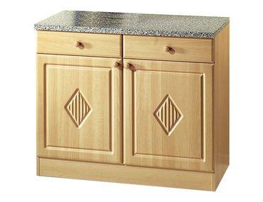 Küchen-Unterschrank RAUTE - 2-türig - 100 cm breit - Buche