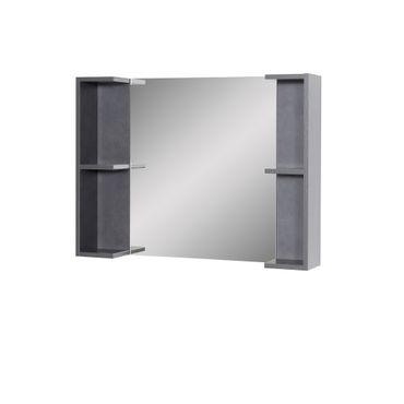 Bad-Spiegel MIA - mit Ablagen - 81 cm breit - Graphit-Grau