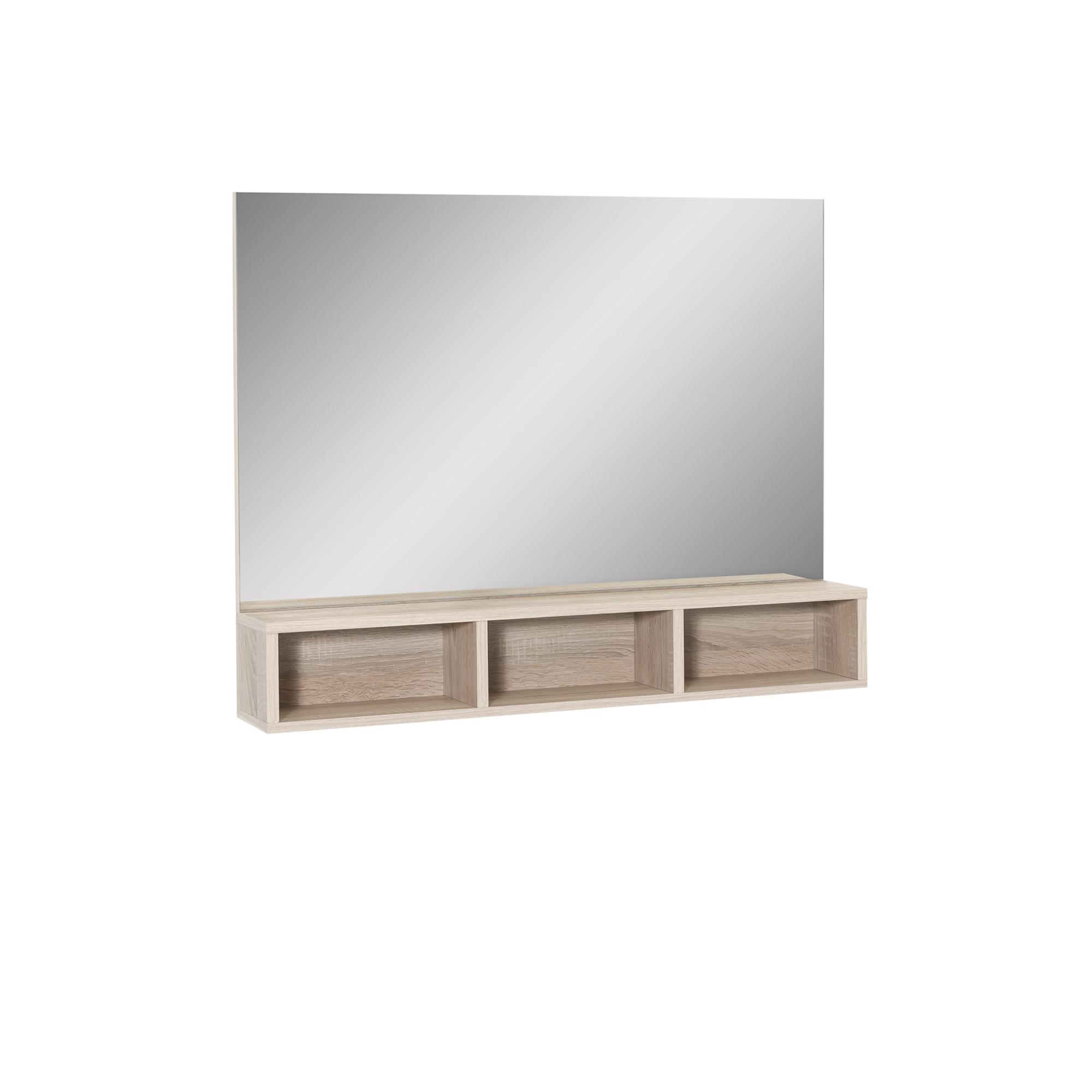 spiegel mia mit 3 f chern 85 cm breit eiche sonoma wohnen spiegel. Black Bedroom Furniture Sets. Home Design Ideas