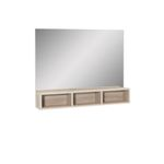 Spiegel MIA - mit 3 Fächern - 85 cm breit - Eiche Sonoma