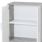 Kommode UTA - 2-türig - 73 cm breit - Weiß / Beton-Grau