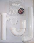 Küchen-Spülcenter MÜNSTER mit Siphon - 1-türig - Breite 100 cm - Weiß
