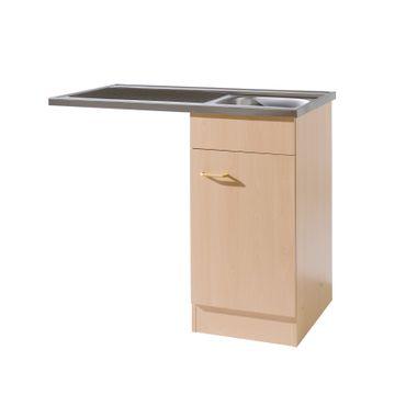 Küchen-Spülcenter MÜNSTER mit Siphon - 1-türig - Breite 100 cm - Buche