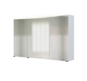 bad spiegelschrank 3 turig mit beleuchtung 100 cm breit weiss