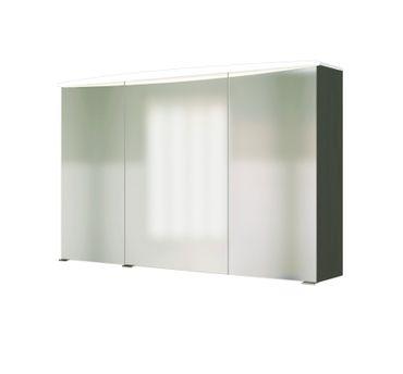 Bad Spiegelschrank - 3-türig, mit Beleuchtung - 100 cm breit - Graphitgrau