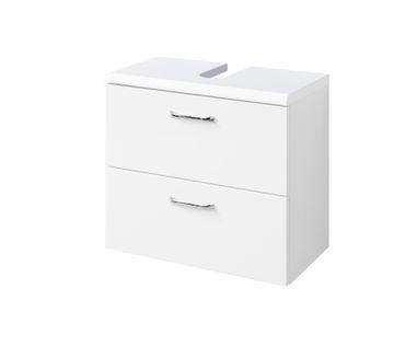 Bad-Waschbeckenunterschrank FONTANA - 1 Klappe - 1 Auszug - 60 cm breit - Weiß