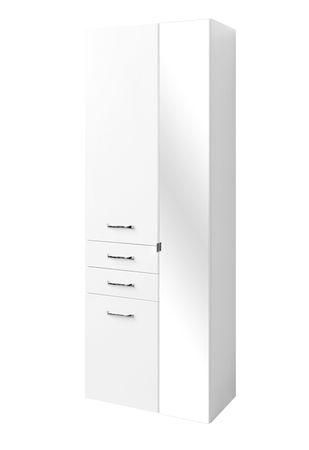 Bad-Hochschrank FONTANA - 3-türig, 2 Schubkästen - 65 cm breit - Weiß