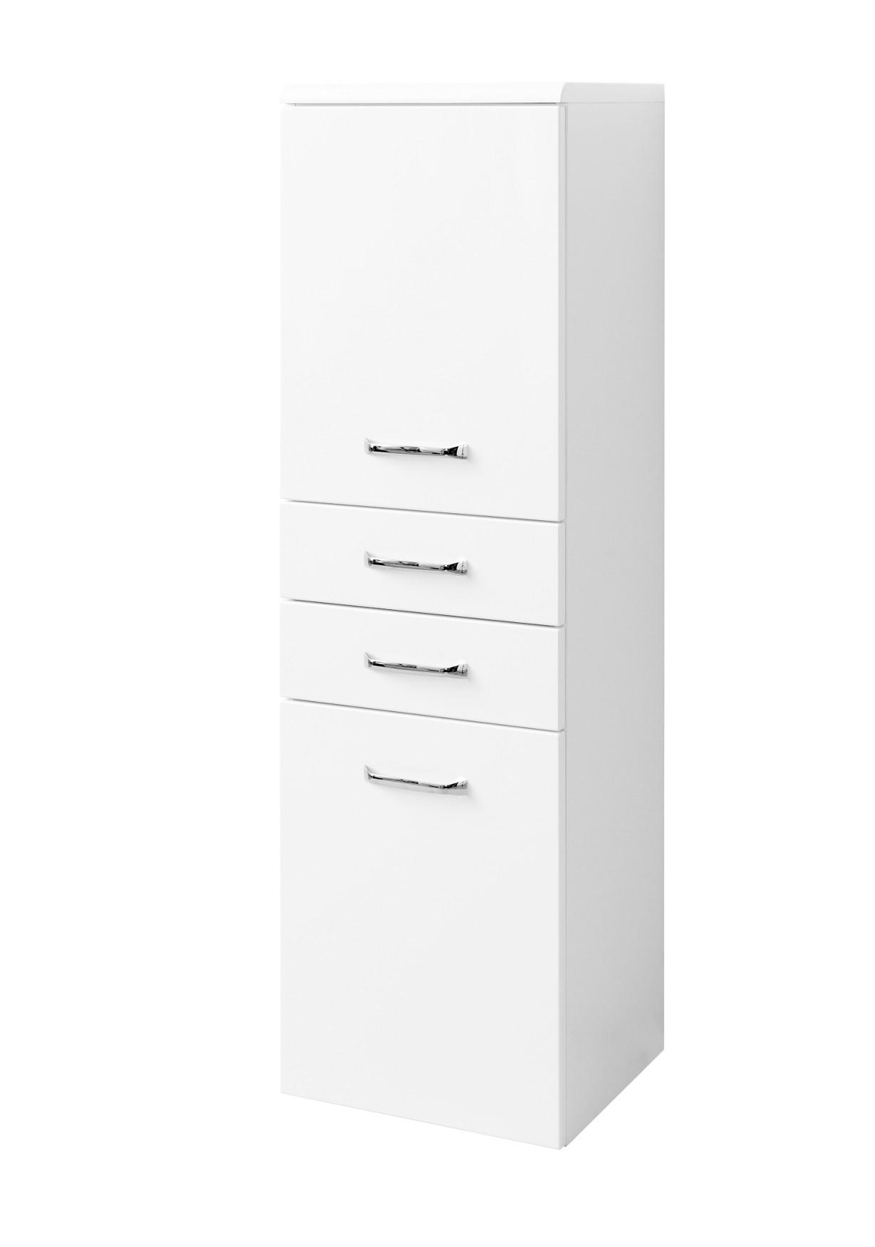 Bad-Midischrank FONTANA - 18-türig, 18 Schubkästen - 18 cm breit - Weiß