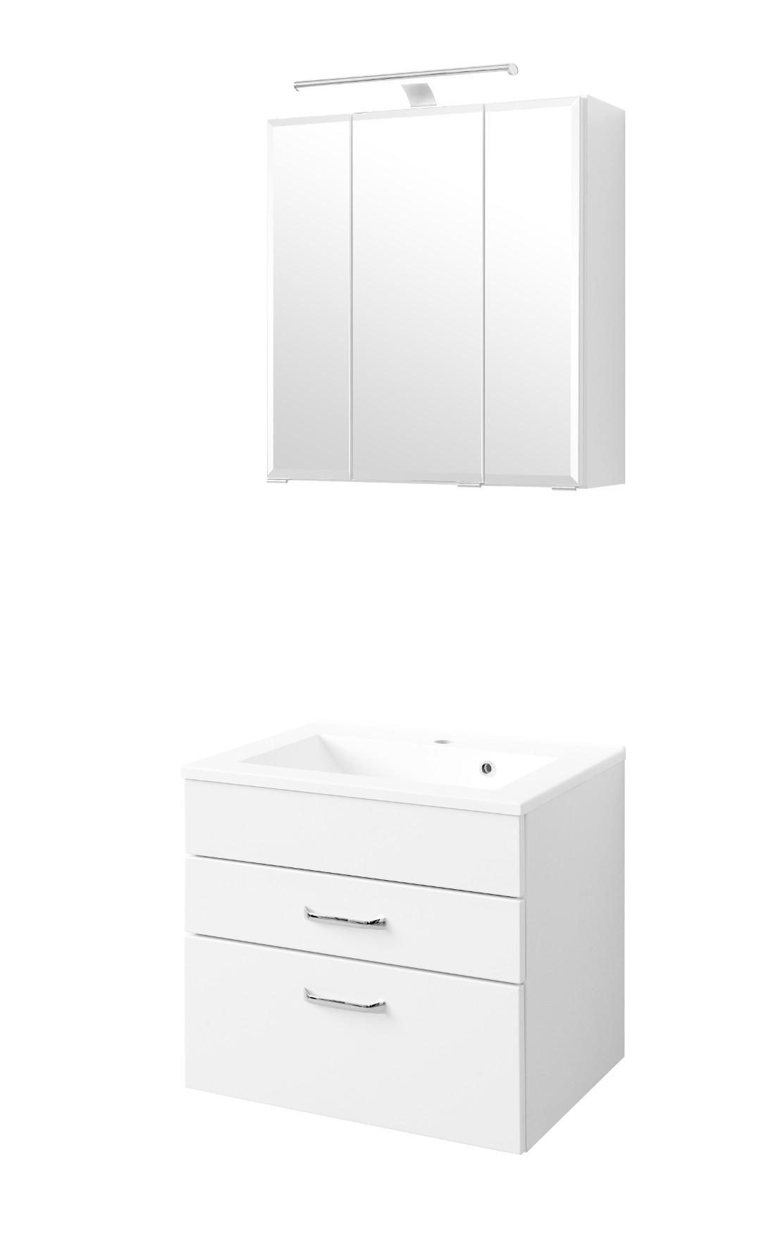 Badmöbel-Set FONTANA - mit Waschtisch - 4-teilig - 60 cm breit ...