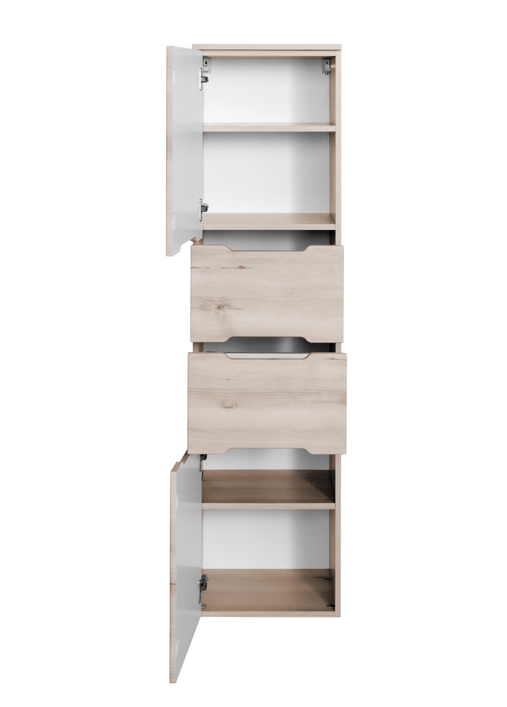 bad hochschrank belluno 2 t rig 2 ausz ge 40 cm breit buche iconic bad bad hochschr nke. Black Bedroom Furniture Sets. Home Design Ideas