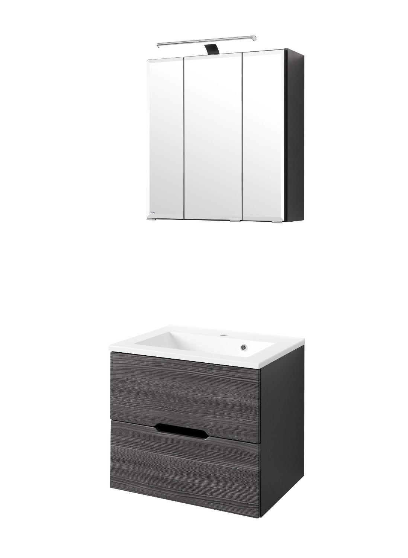 Badmöbel-Set BELLUNO - mit Waschtisch - 4-teilig - 60 cm breit ...