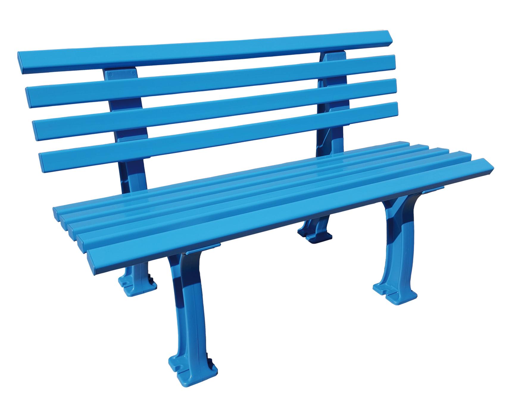gartenbank blome ibiza color edition sitzbank kunststoff 120 cm breit blau ebay. Black Bedroom Furniture Sets. Home Design Ideas