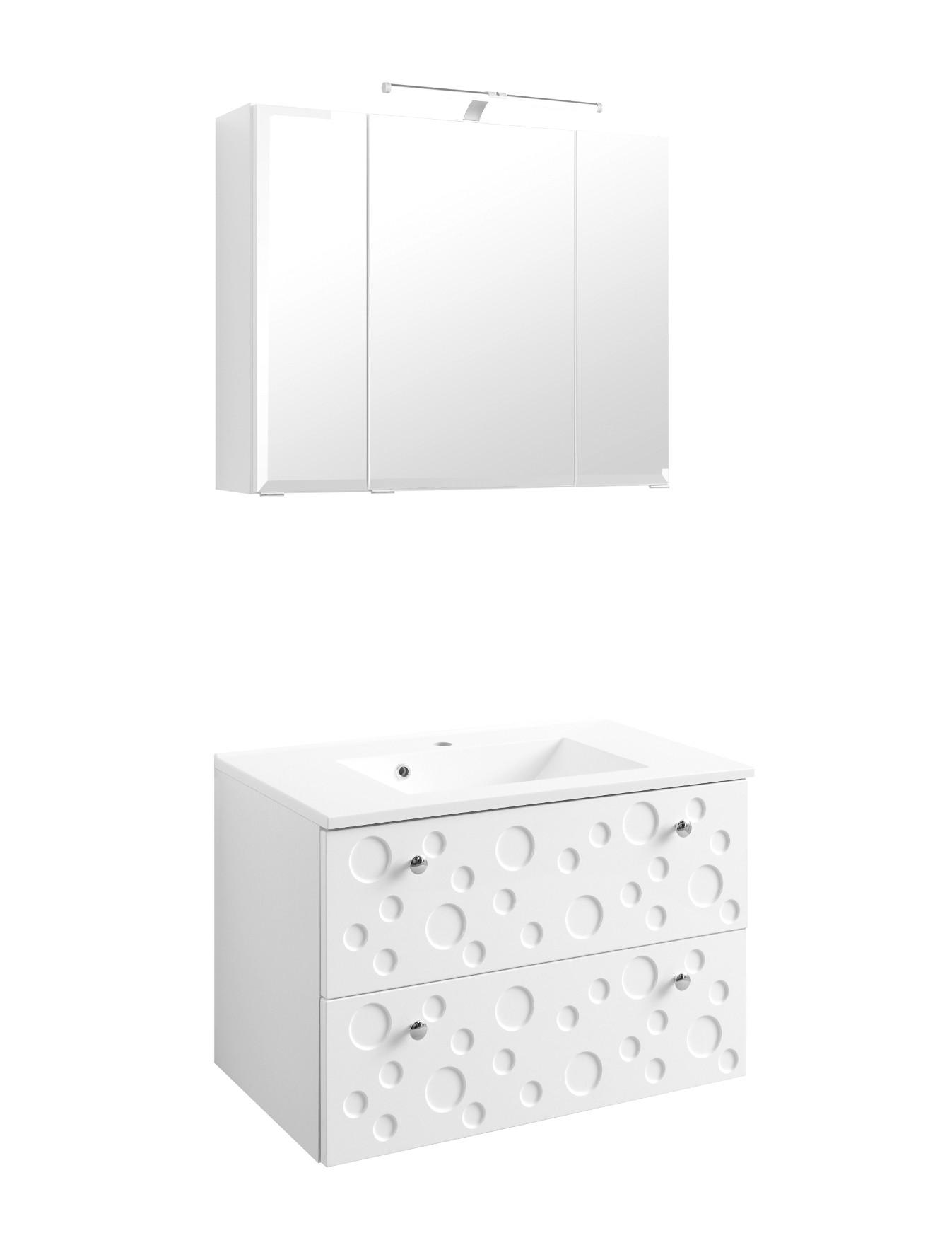 badm bel set bubble waschtisch mit becken und. Black Bedroom Furniture Sets. Home Design Ideas