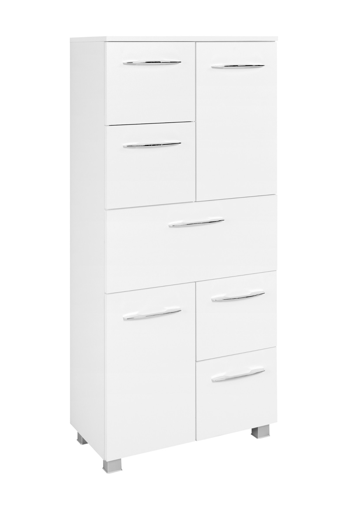 badezimmer highboard portofino midischrank badm bel badschrank 60 cm weiss 4250163751479 ebay. Black Bedroom Furniture Sets. Home Design Ideas