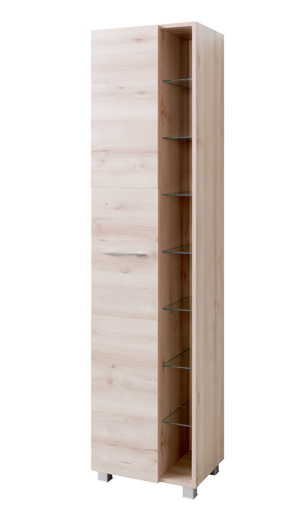 bad hochschrank portofino 1 t rig 7 regalf cher 45 cm breit buche iconic bad bad hochschr nke. Black Bedroom Furniture Sets. Home Design Ideas