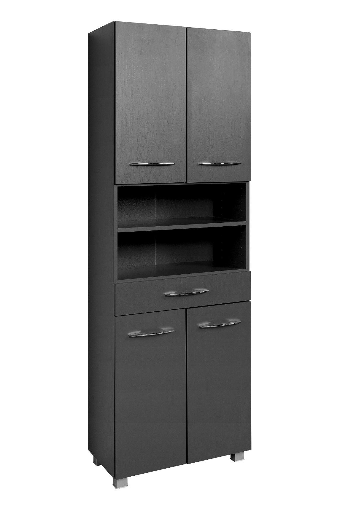 bad hochschrank portofino 4 t rig 1 schubkasten 60 cm breit graphitgrau bad bad hochschr nke. Black Bedroom Furniture Sets. Home Design Ideas