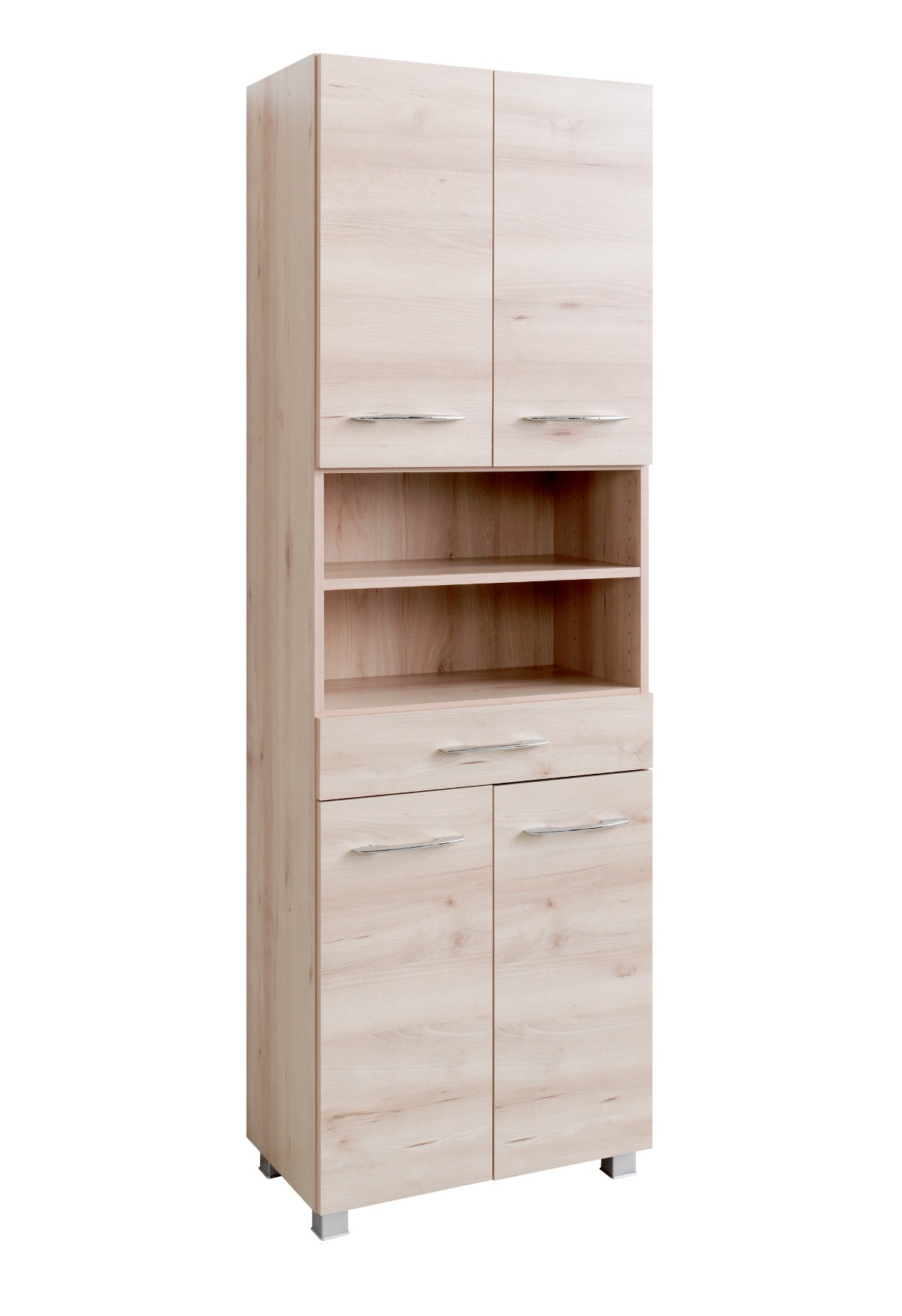 bad hochschrank portofino 4 t rig 1 schubkasten 60 cm breit buche iconic bad bad hochschr nke. Black Bedroom Furniture Sets. Home Design Ideas