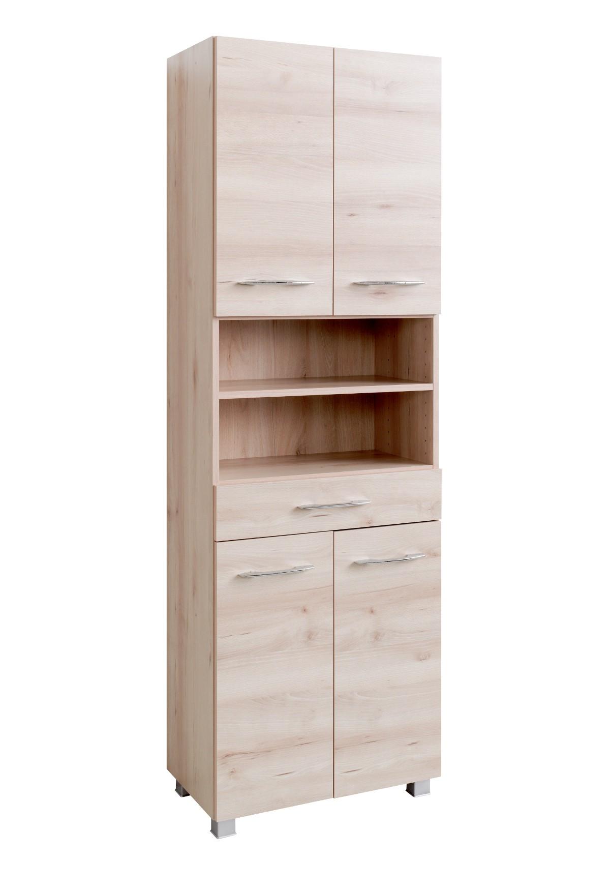 bad hochschrank portofino 4 t rig 1 schubkasten 60 cm. Black Bedroom Furniture Sets. Home Design Ideas