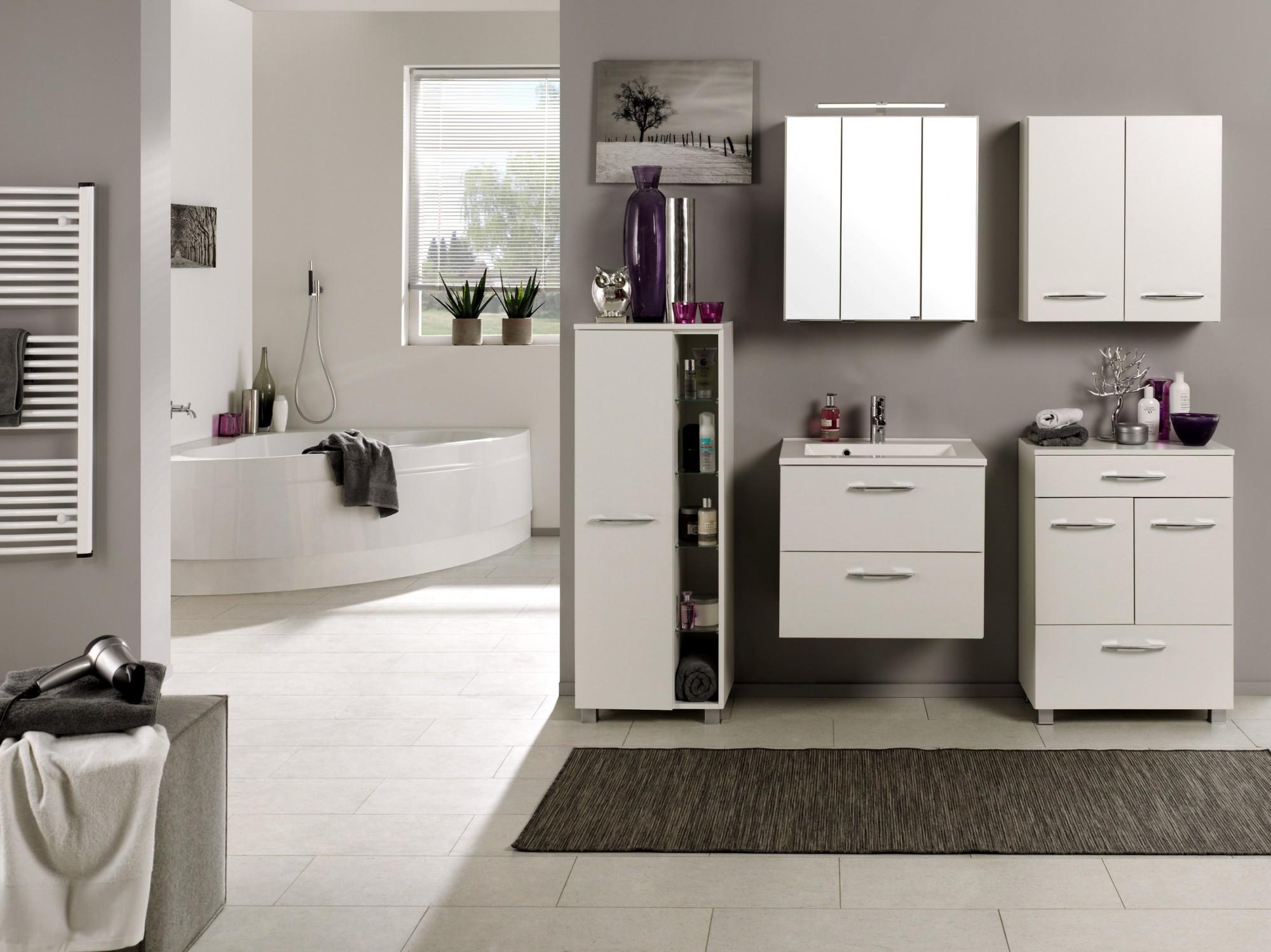 bad midischrank portofino 1 t rig 5 regalf cher 45 cm breit wei bad bad midischr nke. Black Bedroom Furniture Sets. Home Design Ideas