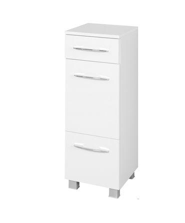 Bad-Unterschrank PORTOFINO - 1-türig, 1 Schublade, 1 Auszug - 30 cm breit - Weiß