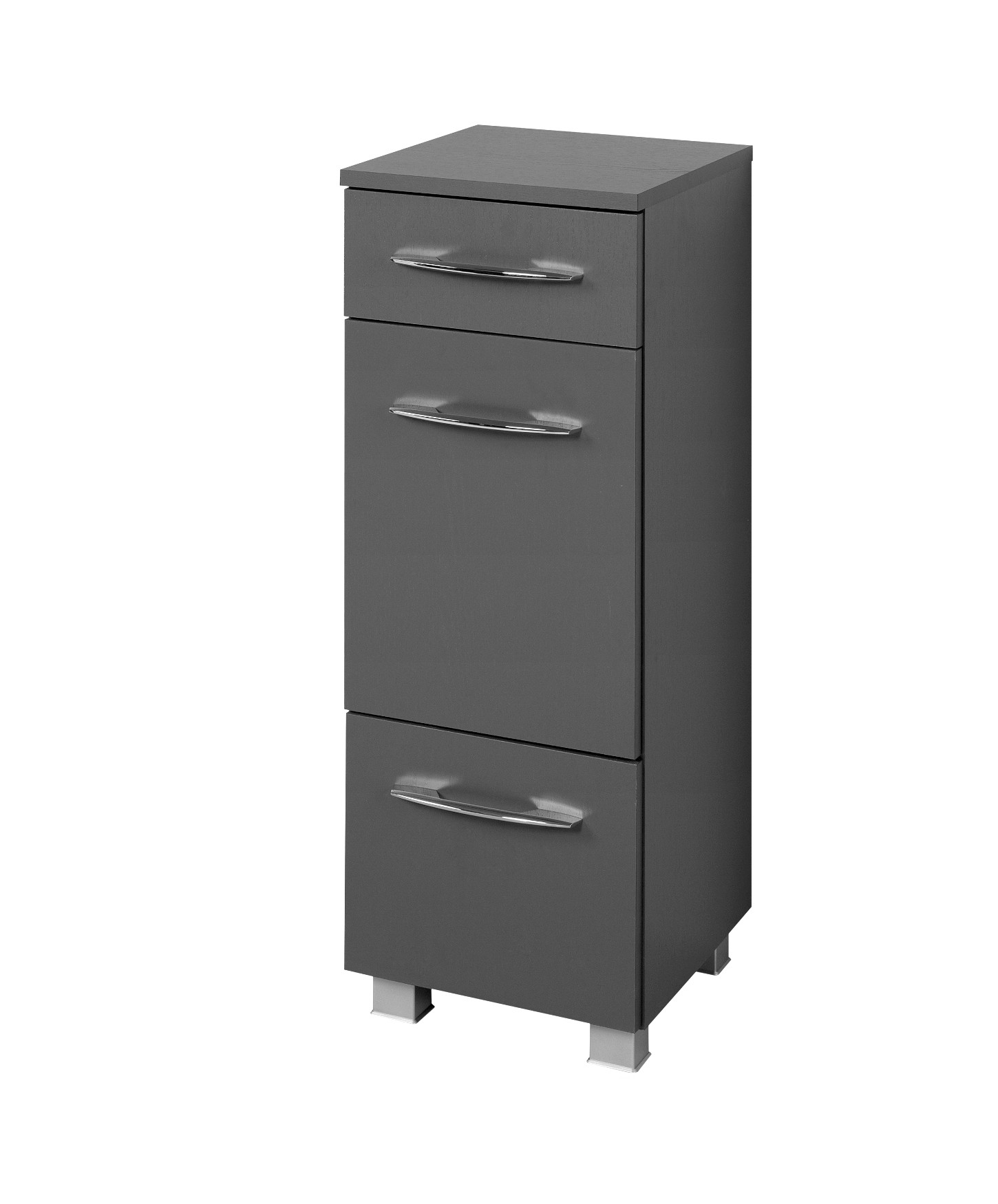 badezimmer unterschrank portofino badschrank badezimmerschrank 30cm graphit grau ebay. Black Bedroom Furniture Sets. Home Design Ideas